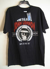 "John Lennon ""Imagine"" Tshirt Nwt Black with Large Graphic 100% Cotton"