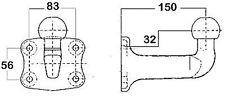 Westfalia Tornillo-en, Enganche de Remolque capacidad 2,3 T-329089600001