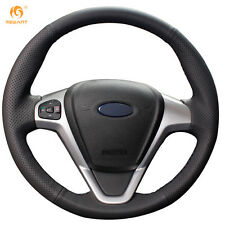 Soft Leather Steering Wheel Cover for Ford Fiesta 2008-2013 Ecosport 2013-2016