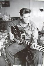 """ELVIS PRESLEY """"YOUNG ARMY G.I. SOLDIER PLAYING GUITAR"""" POSTER FROM ASIA"""