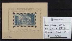 Lussemburgo 1946 Esposizione filatelica foglietto Unif BF 6