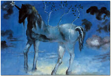 Happy Unicorn - Hand Painted Salvador Dali Oil Painting On Canvas Wall Art