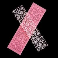 Flower Lace Silicone Mold Fondant Icing DIY Mould Wedding Cake Decoratiing Mat