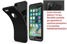 Cover custodia Iphone 7 nera TPU ultra slim silicone nera morbida 0,3mm