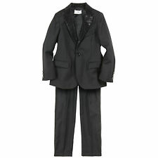 NWT Authentic Young Versace Boy's Black Wool Suit Jacket & Trousers (4T)