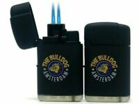 THE BULLDOG AMSTERDAM LASER GAS LIGHTER DOUBLE JET FLAME