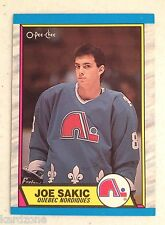 JOE SAKIC 1989-90 OPC ROOKIE HOCKEY CARD NM # 113 HOF QUEBEC NORDIQUES MUST SEE
