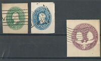 1887-1895 USA ENVELOPE STAMPS US SCOTT U311, U330, U4349