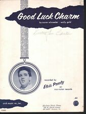 Good Luck Charm 1962 Elvis Presley Sheet Music