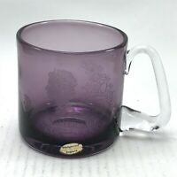 Vintage Purple Glass Wedgewood Silver Jubilee Cup Collectable <CA03 (T36)