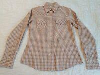 Rockies Western Rodeo Shirt Womens S Pearl Snaps Long Sleeves