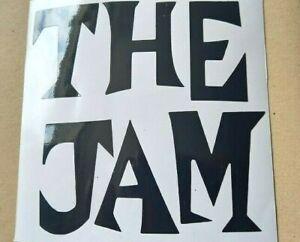 2X THE JAM  Laptop sticker, retro, Mods, punk rock, 22 colours, 9cm S5
