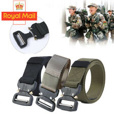 Heavy Duty Tactical Army Military Nylon Belts Combat Army Quick Release Buckle Q