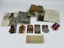 More details for original world war two medal grouping, 8th army, named with photographs and box