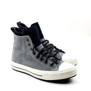Converse Mens CTAS Hi Waterproof Nubuck Boots 166608C Grey/Black/Egret 8.5