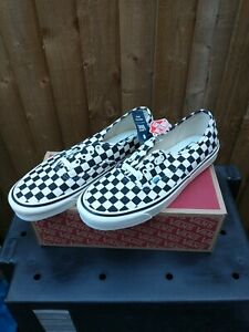 Vans Mens Authentic 44 DX Canvas/suede Trainers Anaheim Factory Checker Size 10