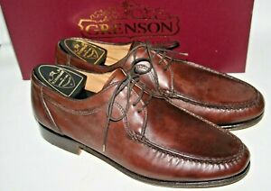 Grenson Exclusive Men's Leather Shoes Brown Gentleman Hand Sewn 8 UK 42 Boxed