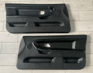 •Genuine• BMW E36 M3 Coupe/Convertible Front Leather Door Cards - Black