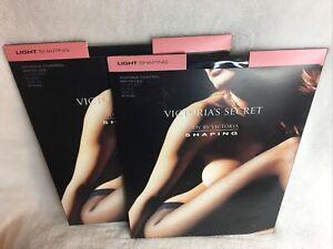Qty 2 NEW Victoria's Secret Body By Victoria Light Control PANTY HOSE Sz B BLACK