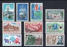 France 10 timbres non oblitérés gomme**  36  Divers