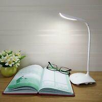 Flexible LED Tischleuchte dimmbar Schreibtischlampe Lampe Büro Neuheit in Weiß
