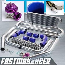 2.5'' Aluminum FMIC Intercooler Piping Kit+Purple Type-RS Turbo Bov Adapter Pipe