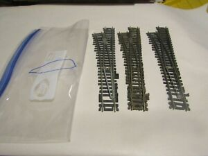 Lot D HO Scale Train Atlas Code 100 Nickle Track  Left Hand Switch  Need Work