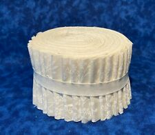 """White on Natural Jelly Roll 20  2.5""""  strips 100% Quilting Cotton"""