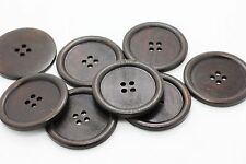 Extra Large Dark Brown Wooden Button Huge Big Coat Four Holes Wood 50mm 10pcs