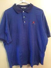 Men's Polo Golf Ralph Lauren Blue XL Golf Polo Casual Shirt SS Made U.S.A.
