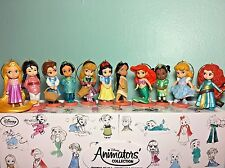 Disney Princess Animators Doll Christmas Ornament Set 11pc Ariel Jasmine Mulan