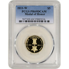 2011-W US Gold $5 Medal of Honor Commemorative Proof - PCGS PR69 DCAM
