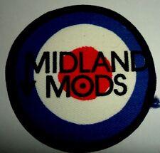 MIDLAND MODS 'TARGET' vintage printed sew on patch  PARKA   VESPA SCOOTER