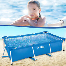 Intex 260x160x65 Swimming Pool Schwimmbecken Frame Stahlwandbecken Schwimmbad