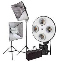 "CLKIT15 SOFTBOX 20""x 28"" Video Continuous LIGHTING KIT 2set tripod bag"
