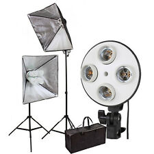 "Clkit 15 Softbox 20""x 28"" Kit de Iluminación continua de video 2set Bolsa De Trípode"