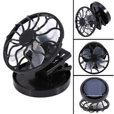 Mini Black Clip-On Solar Cell Fan Sun Power Energy Panel Cooling for Traveling T