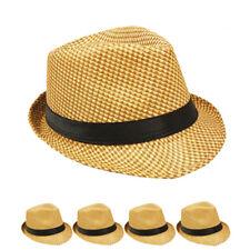 MEN Fedora Hat Wedding Dress Formal BROWN CAP BLACK SUMMER US SELLER WOMEN
