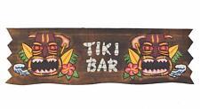 Letrero 60cm Tiki Bar de Madera Con Hawai Mauii Kauai Mares Del Sur