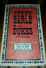 Steve Earle Ryman Hatch Show Print Nashville 2017 Poster Dukes Copperhead Lucero