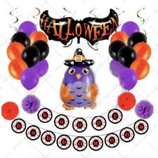 HALLOWEEN DECORATION BALLOONS FOIL HELLOWEEN DECO SCARY GUESTS DEAD OWL HELOWEEN