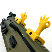 Novelty Gesture Sights for 21mm Wide Rail Mount Base Modification Accessories