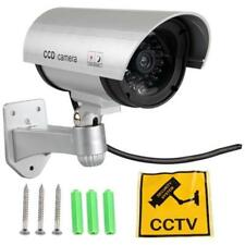 Cámara De Seguridad Domo CCTV Dummy IR falso Leds Infrarrojos Lightup en Dark & Pegatina