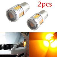 2pcs/Set 12V 18-SMD BAU15S 7507 Amber Yellow LED Turn Signal Lights Bulbs Canbus