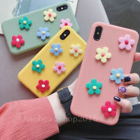 Flowers Candy Color Soft Phone Cases For iPhone XS MAX XR X 7 8 6s Plus & strap