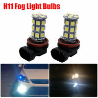 2x H11 27 LED Car Headlight Fog Light Daytime Running Light Bulb Super White