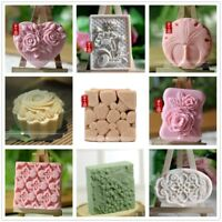 Silicone Soap Bar Mold Flower Mold Heart Mold DIY Craft Molds Handmade Soap Mold