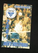 IPFW Mastodons--2001 Volleyball Pocket Schedule