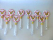 Pink and gold Minnie Mouse Bubble Wand ,Party Favors/ Goodie  bag  SET OF 10