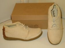 Timberland Santeria Seaview Beige Khaki Canvas Oxfords Sneakers Shoes Mens 8